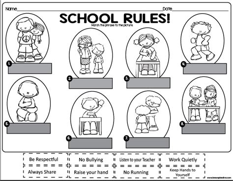 coloring pages school rules school rules freebie classroom freebies