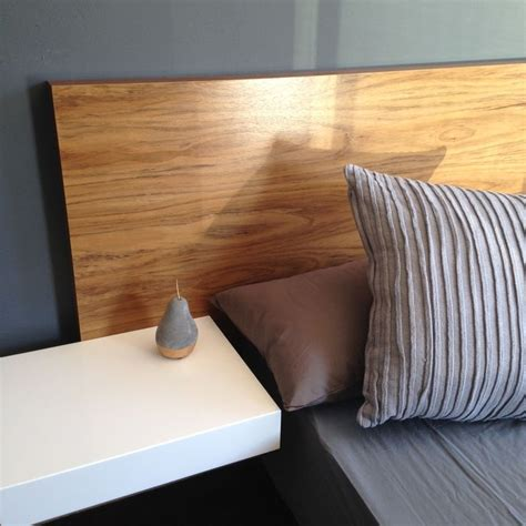 headboard with floating side tables ode floating headboard set including headboard in the