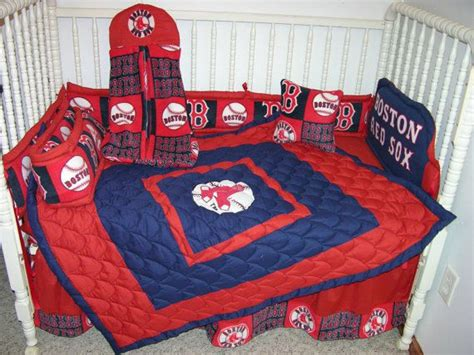 New Crib Nursery Bedding M W Boston Red Sox Fabric Boston Sox Crib Bedding