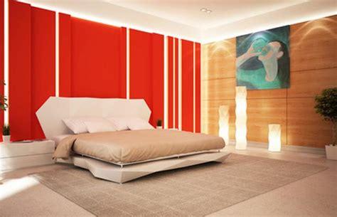 bright red bedroom освещение в спальне фото настольные лампы для спальни