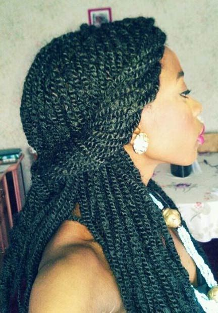 sliver twist braids 29 senegalese twist hairstyles for black women page 14