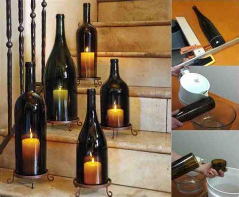candle lantern diy diy wine bottle hurricane candle lanterns do it