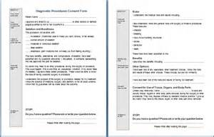 Procedure Consent Form Template by Sle Consent Form Printable Forms