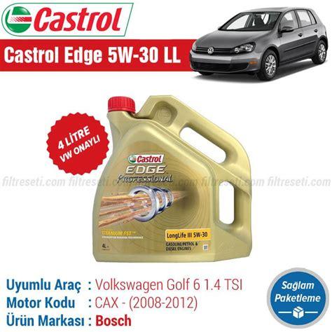 vw golf   tsi motor yagi castrol edge   ll  litre