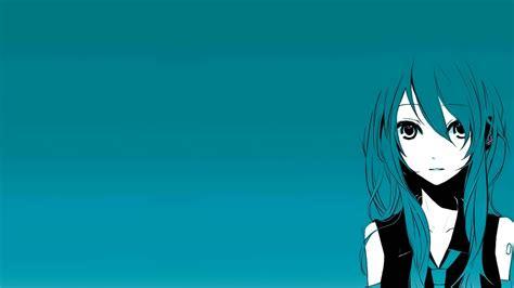 Kaos Hatsune Miku Vocaloid Blue Anime Best Selling Premium blue vocaloid wallpaper 1366x768 wallpoper 296444