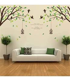 Quotes Stickers For Wall Decor stickerskart wall stickers falling leaves birds amp cage