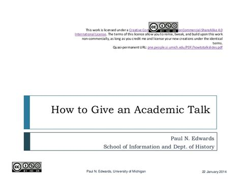 the creative license giving 1401307922 how to give an academic talk