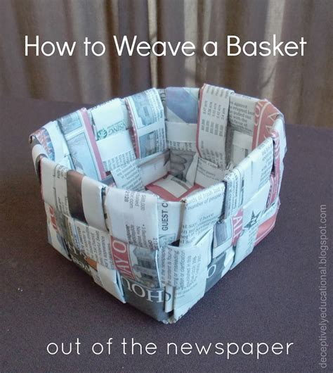 How To Make A Paper Weave Basket - 25 newspaper craft ideas ted s