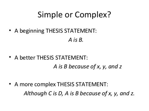 thesis statement starter words thesis statements work shop