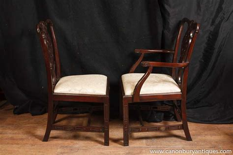 set  mahogany victorian dining chairs gothic chair diner