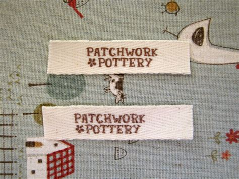 Patchwork Pottery - patchworkpottery fabric labels tutorial