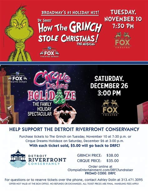 Fox Detox Coupon Code 20 by Fox Theater Partnership Detroit Riverfront Conservancy
