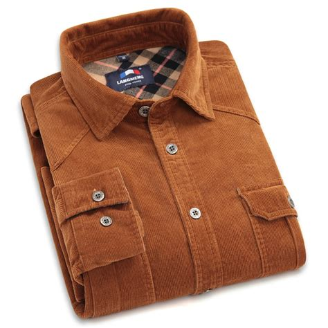 solid color flannel shirts brand 100 cotton corduroy mens dress shirts solid