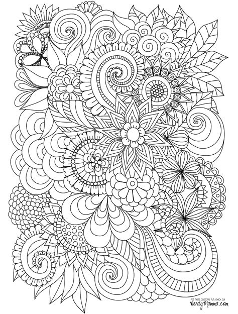 11 Free Printable Adult Coloring Pages Coloring Page For Adults