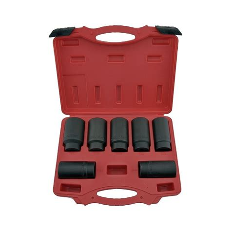 auto forwarding tool 7 pc auto forward axle nut socket set rich tool systems