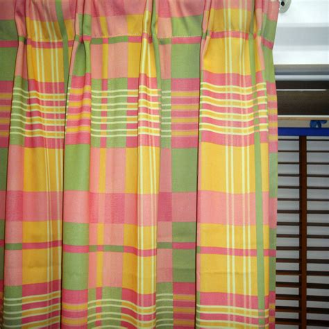 red plaid drapes red plaid curtains with polyester material in colorful style