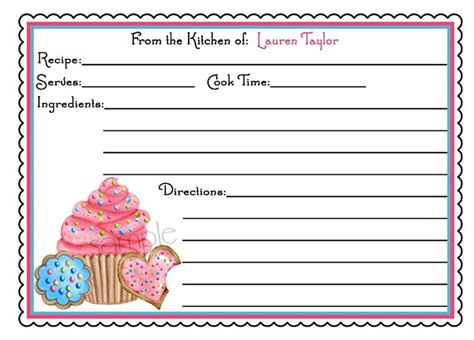 printable recipes for cupcakes cupcake recipe cards cupcake and cookies kitchen baking