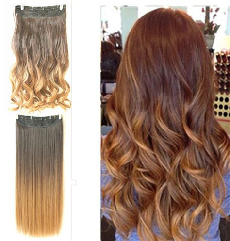 dip dye hairstyles brown and blonde dip dye clip in ombre hair extensions straight curly wavy