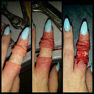 tutorial fx wax step by step pics of my degloved finger makeup all made