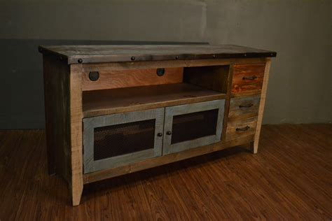 Rustic Tv Console Table Industrial Rustic Reclaimed Wood Tv Stand Media Console