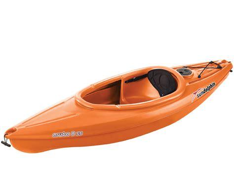 Kayak Com Gift Card - sun dolphin aruba 8 1 person sit in kayak in tangerine orange with on board storage