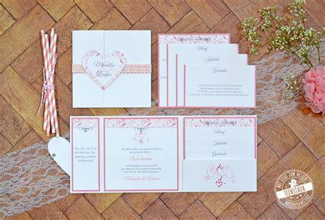 Hochzeitseinladung Rosa Spitze by Individuelle Hochzeitspapeterie Hochzeitseinladung
