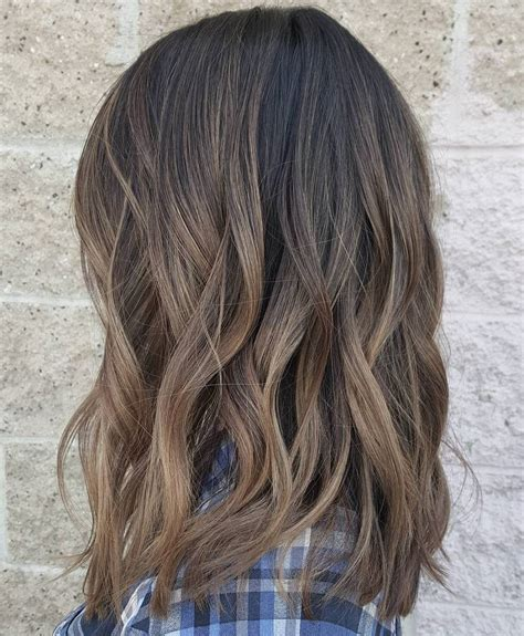 medium ash brown ombre hair color elle hairstyles 70 flattering balayage hair color ideas balayage