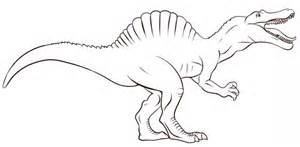 Realistic Spinosaurus Coloring Pages Www Imgkid Com Spinosaurus Coloring Pages
