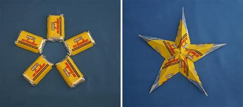 Gum Wrapper Origami - indulge your sweet tooth wrappers to make diy