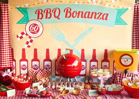 adult bbq 60th birthday party ideas photo 1 of 22