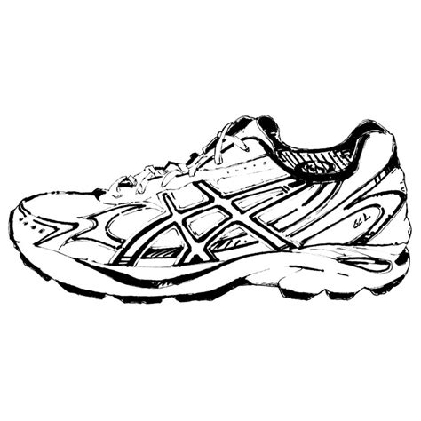 how to draw running shoes running shoes drawing images pictures becuo cliparts co