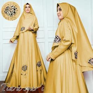 Fashion Wanita Muslim Setelan Gamis Syari Pashmina Rivada Bahan Jersey setelan baju gamis syari lengan terompet modern