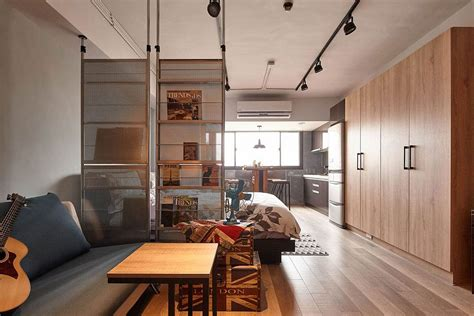 Tiny industrial loft style apartment in taipei city