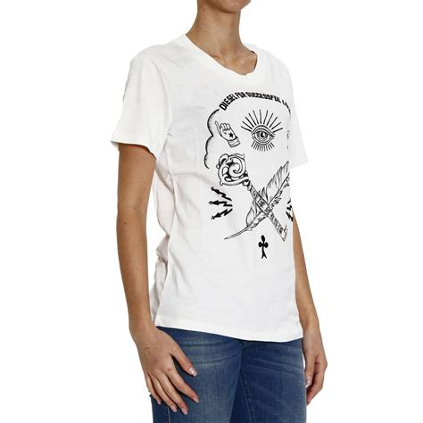Rate Symboldenim Shirt diesel t shirt without sleeve crew neck print flock symbols in lyst