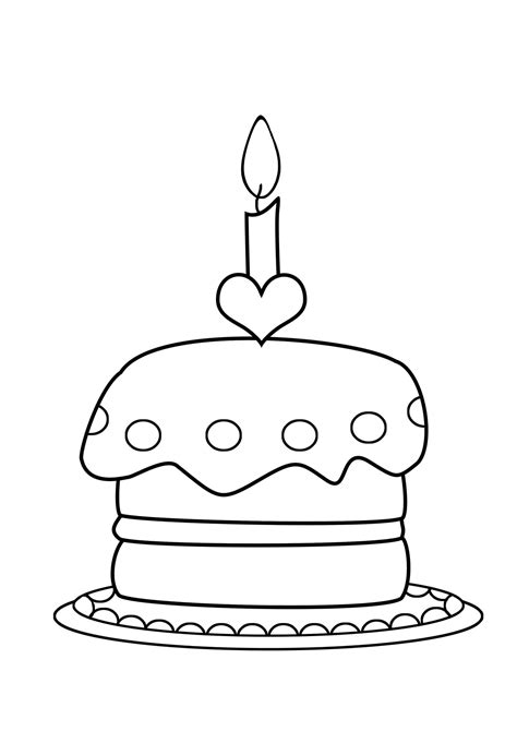 coloring pictures of birthday cakes and balloons birthday coloring pages