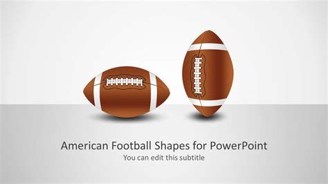 Football Shape For Powerpoint Slidemodel Football Powerpoint Slides