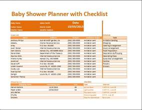 Baby Shower Planning Template by Kt S Baby Shower Planner With Checklist Template Word