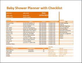 kt s baby shower planner with checklist template word
