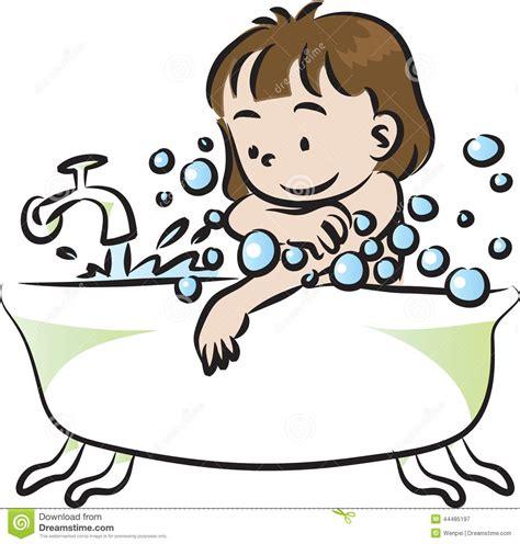 Baby Bath For Shower los ni 241 os se ba 241 an stock de ilustraci 243 n imagen 44485197