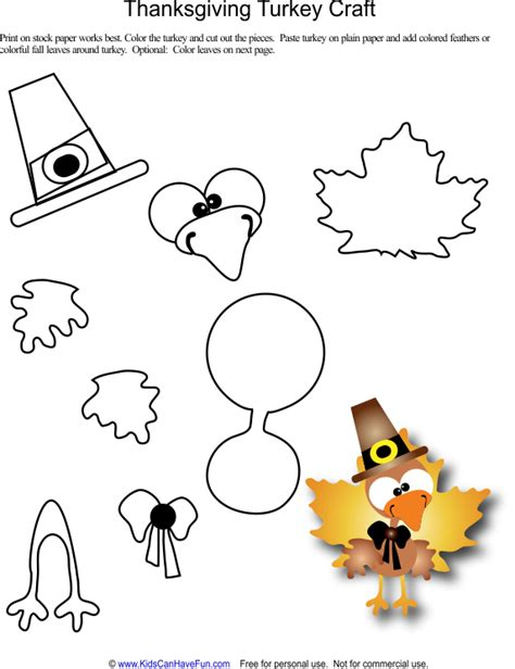printable thanksgiving crafts for kidscanhavefun activities crafts