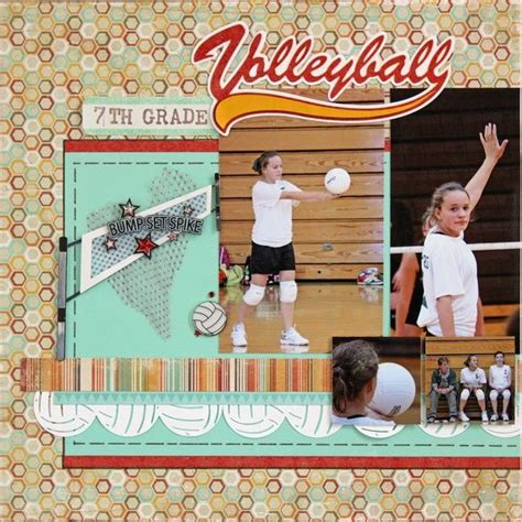 scrapbook layout ideas for volleyball 68 best scrapbooking volleyball images on pinterest