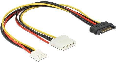 Kabel Power Sata Cabang Y Power Sata kabel y power sata stecker 15 pin gt 4 pin molex buchse 3