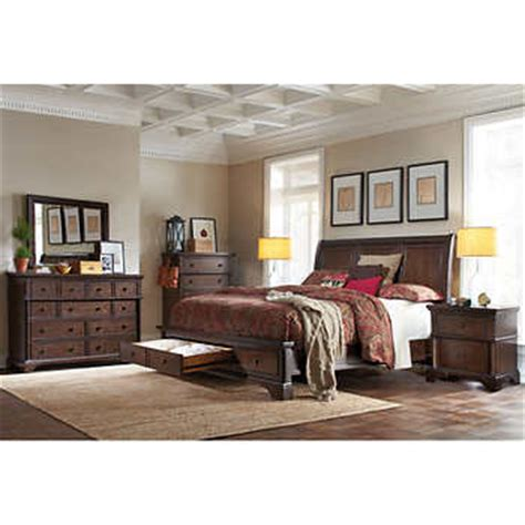 california king storage bedroom sets brownstone 6 piece cal king storage bedroom set