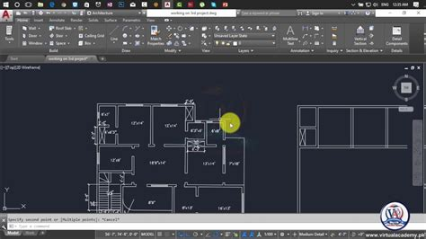 how to make 2d floor plan in autocad 2017 autocad 2d and