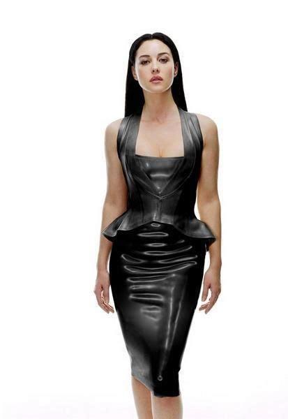 monica bellucci matrix costume latex dress from the matrix sexy tight dresses