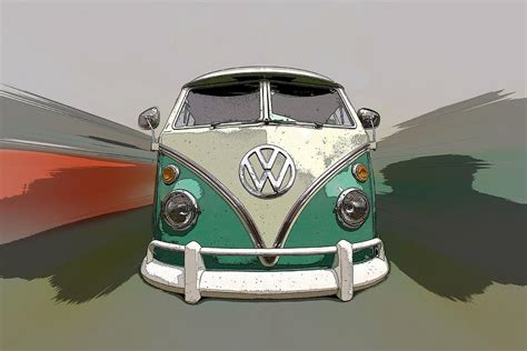 volkswagen bus painting vw bus art photograph by steve mckinzie