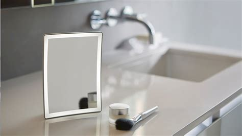 robern lighted mirror entice lighted magnifying mirror by robern