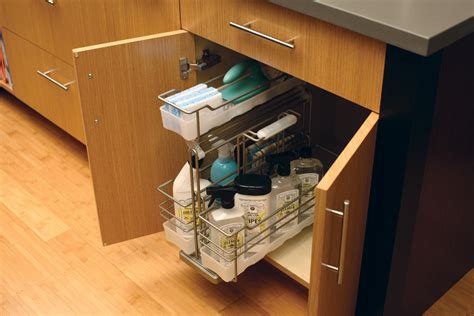kitchen sink storage sink tray under sink storage dura supreme cabinetry