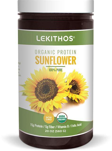 black sunflower seeds protein percent organic sunflower seed protein by lekithos organics by