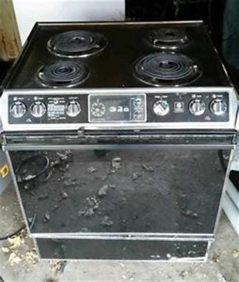 high end electric stoves vintage high end ge electric stove oven stainless top